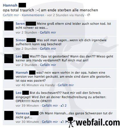 Rechtschreibung: Mangelhaft! - Facebook Fail des Tages 05.09.2013 | Webfail - Fail Bilder und Fail Videos