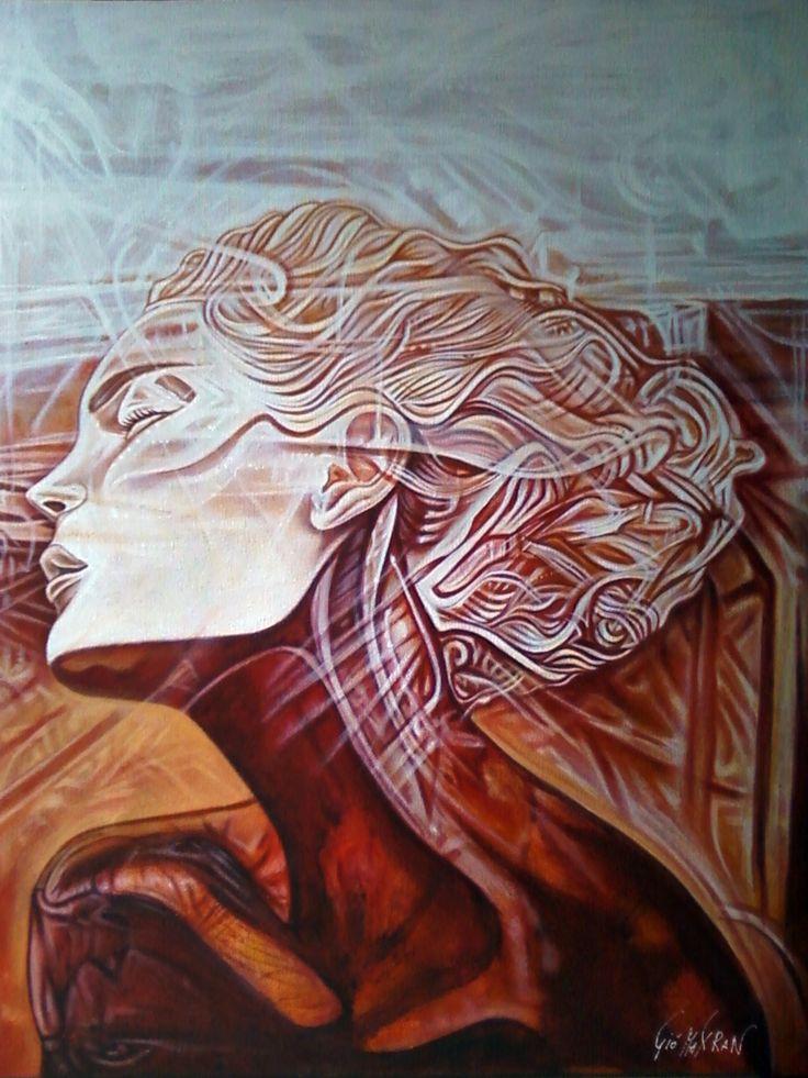 Author: Giò Max RaN  Title: Onelia  Acrylic on canvas  Measurements: 70 cm x 50 cm