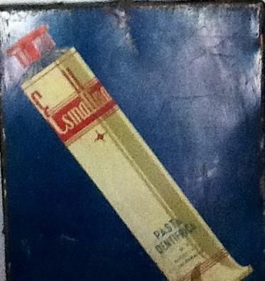 Letrero pasta dentífrica, Carroza Antiguedades