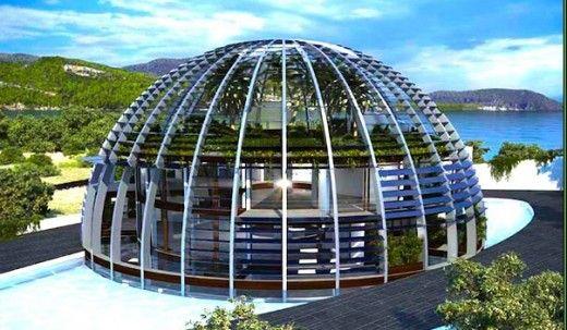 Casa cu structura din sticla si otel, in care lumina solara poate patrunde chiar si la subsol