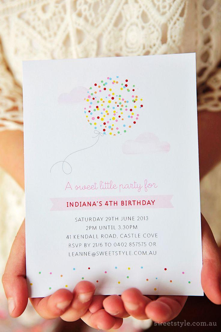A sweet and simple invitation for a children's party :) Um convite simple e bonito para uma festa de criança :)