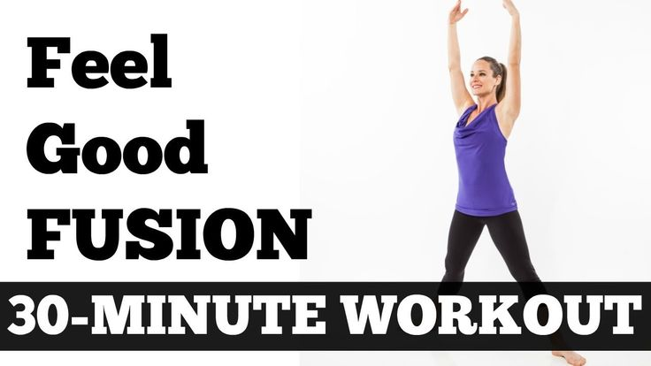 30-Minute Feel Good Fusion Workout - Barefoot Cardio, Pilates, Barre, Yo...
