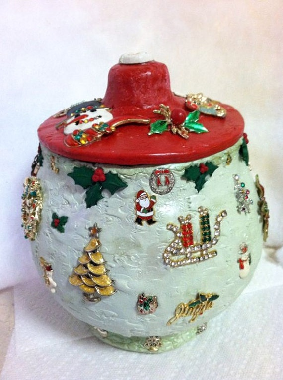 Christmas Cookie Jar Large Cookie Jars Pinterest