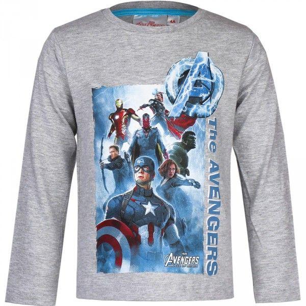 Marvel Avengers langærmet trøje med  Captain America, Black Widow, Hulk, Thor og Hawk Eye