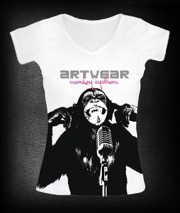 T-shirt femme Monkey Singer  P-plum