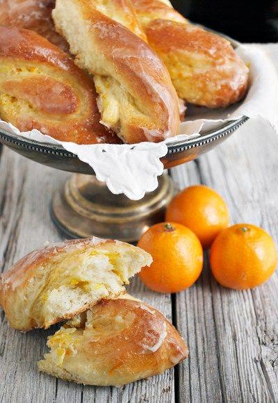 Glazed Bittersweet Orange Twists