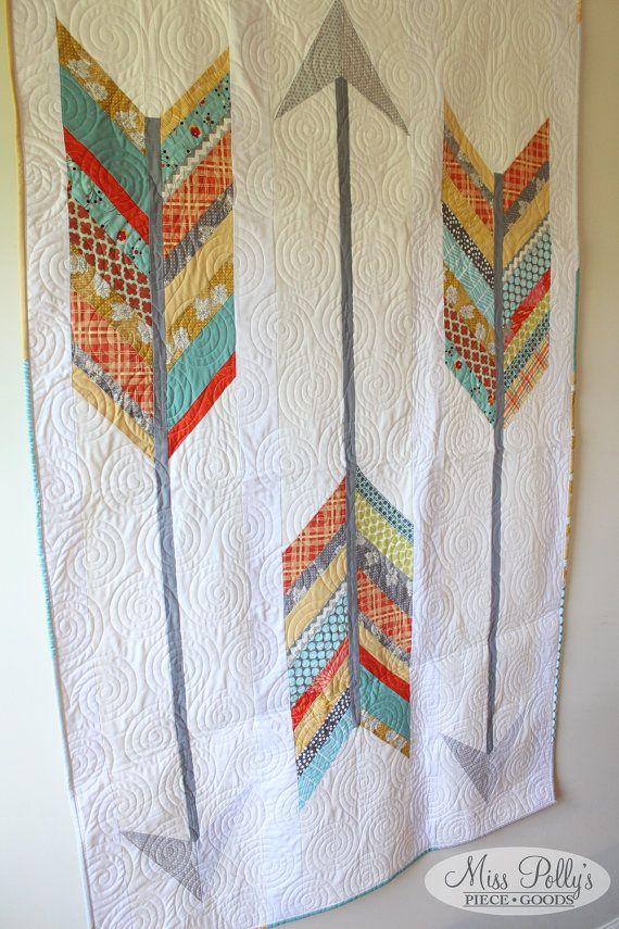 Baby Crib Bedding Patchwork Quilt Modern by MissPollysPieceGoods
