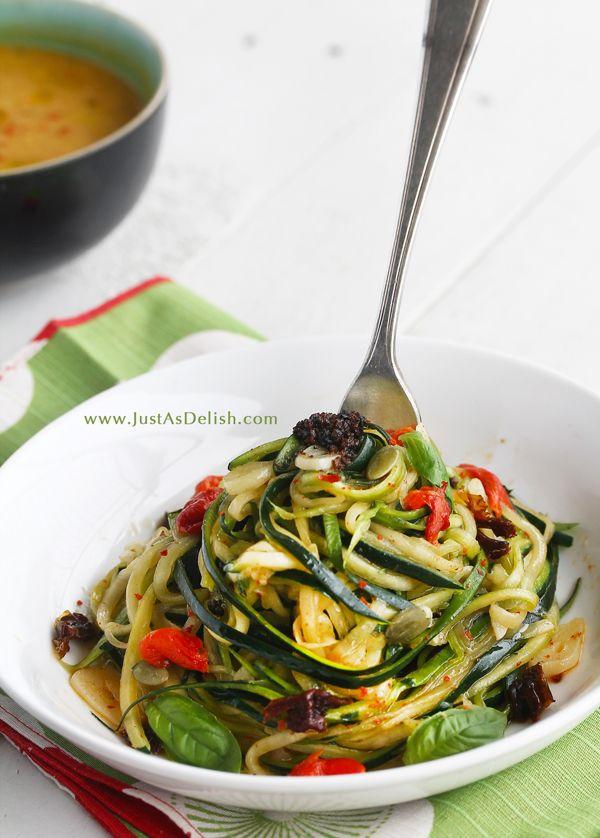 Zucchini 'Noodles' Aglio et Olio by justasdelish #Noodles #Zucchini #Healthy