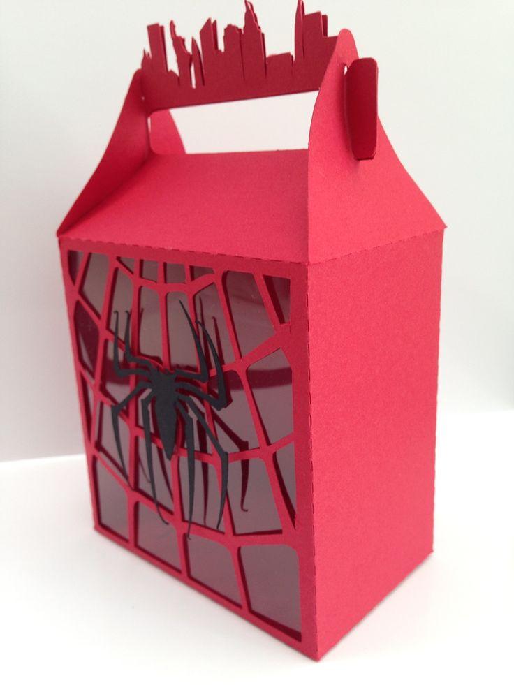 Caixa para lembrancinha Homem Aranha   Papel com Afeto   Elo7