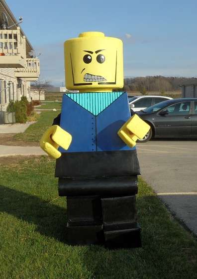 the best lego man costume yet! Not that I'm willing to make or wear this version, but kudos to the person who did