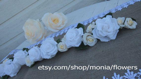 Wedding GARLAND RUSTIC decorations wedding TABLE by moniaflowers