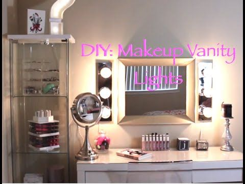 DIY Vanity Light Mirror - Easy & Quick (LisaPullano) - YouTube                                                                                                                                                                                 More