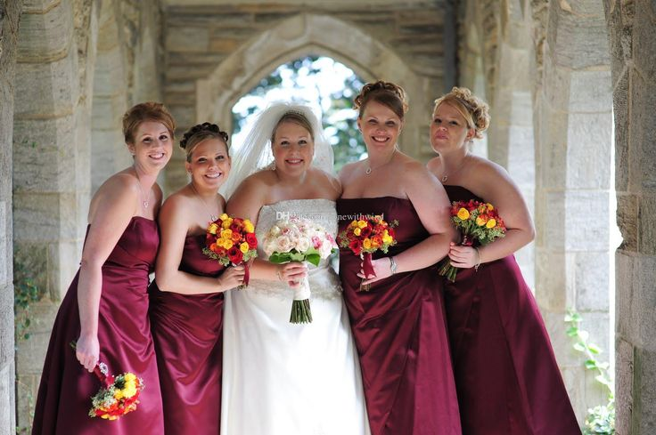 2016 wine burgundy navy blue plus size bridesmaid prom for Vineyard wedding dresses for guests