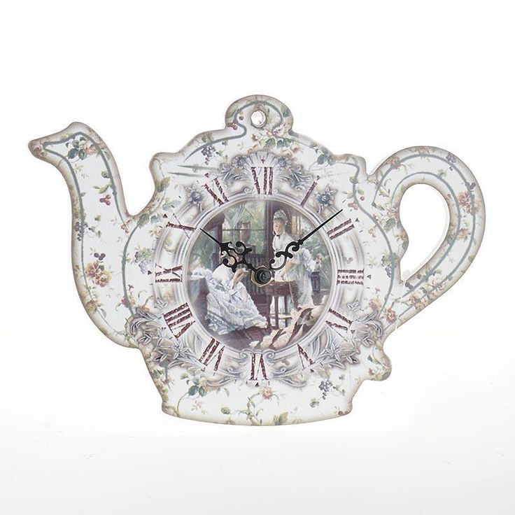 Amazing Vintage Wall Clock 'Tea pot' made of MDF. www.inart.com