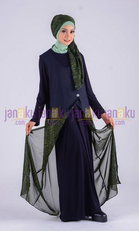 Busana muslimah IS dengan bahan katun kombinasi chiffon nyaman di pakai