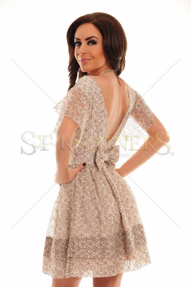 Rochie PrettyGirl Sensory Cream 215 Lei.  Spate decupat. | StarShinerS