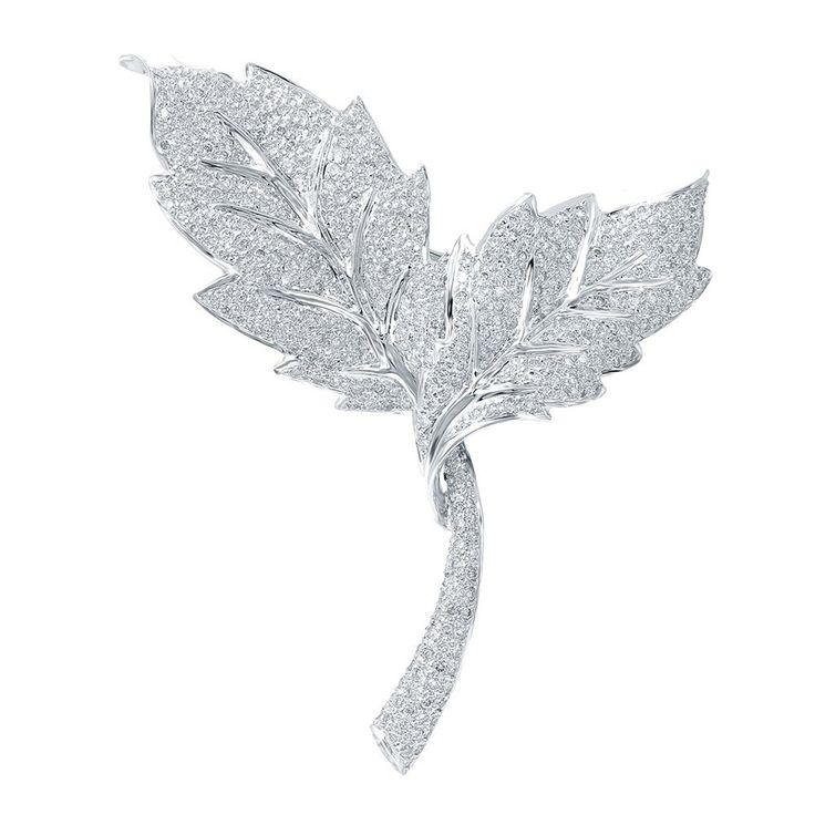 Genuine 1.9 TCW 14K White Gold Ladies Brooch * Check this awesome product by going to the link at the image. (This is an Amazon Affiliate link and I receive a commission for the sales)