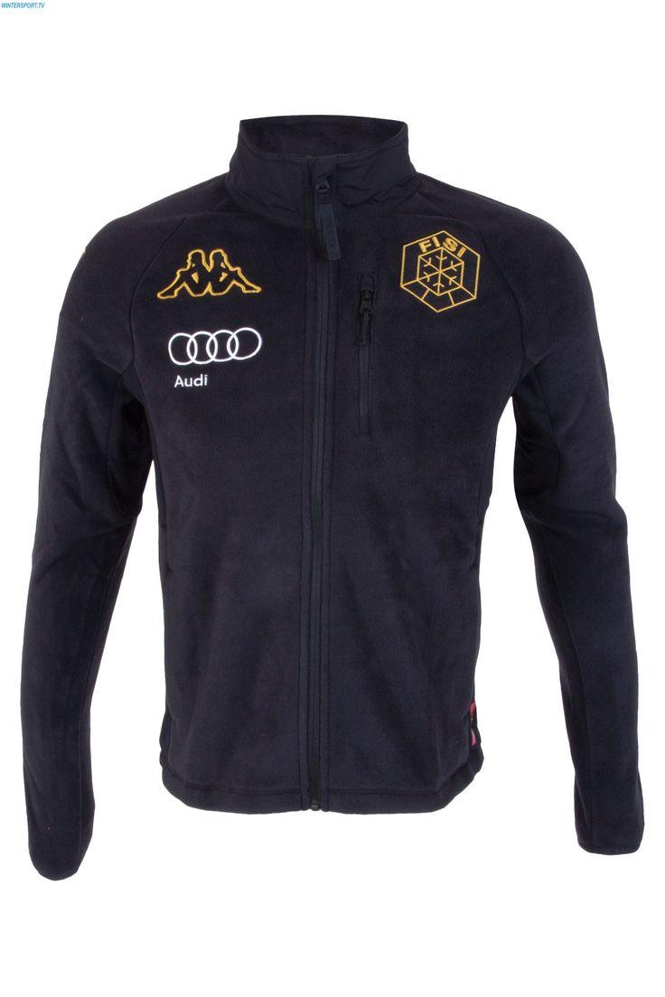 Kappa Men Italian Alpine Team FISI Fleece Jacket - Black Yellow Gold