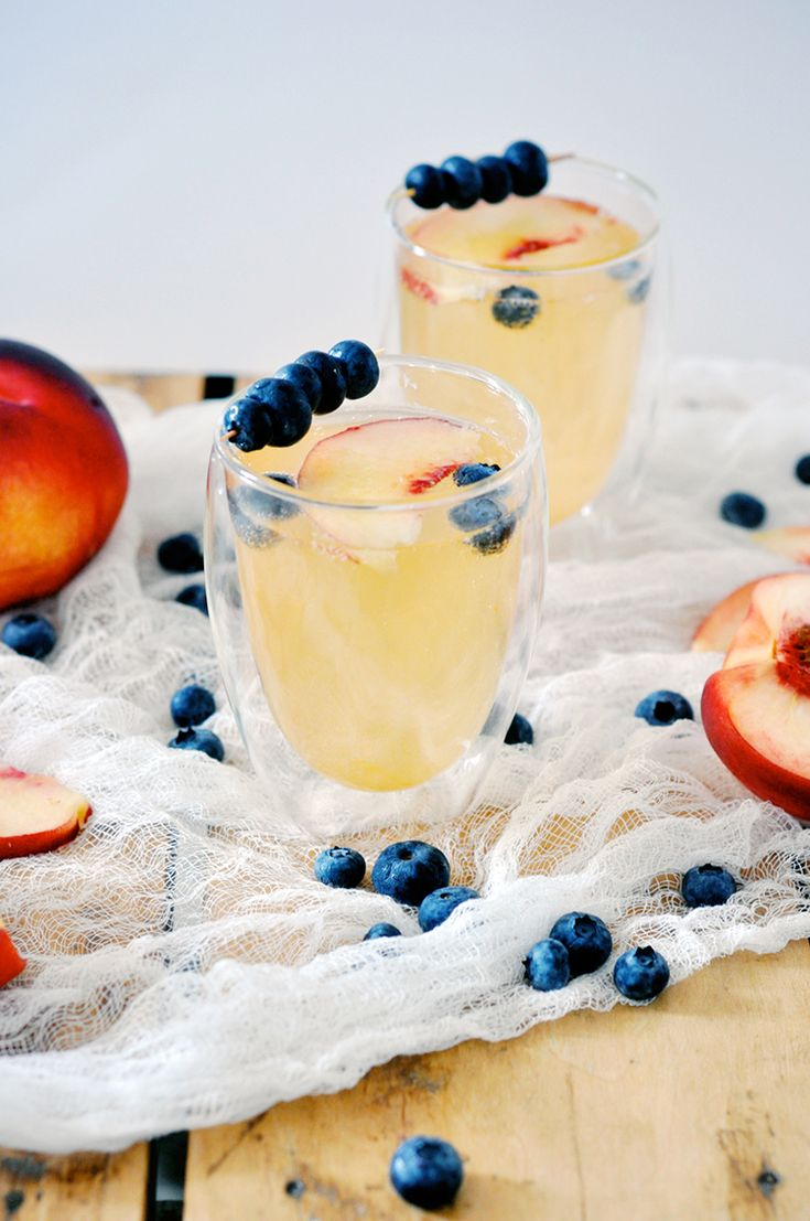 Peach Gin Fizz -- I have gin in the freezer and I just bought peaches from the farmer's market. I think I must try this.