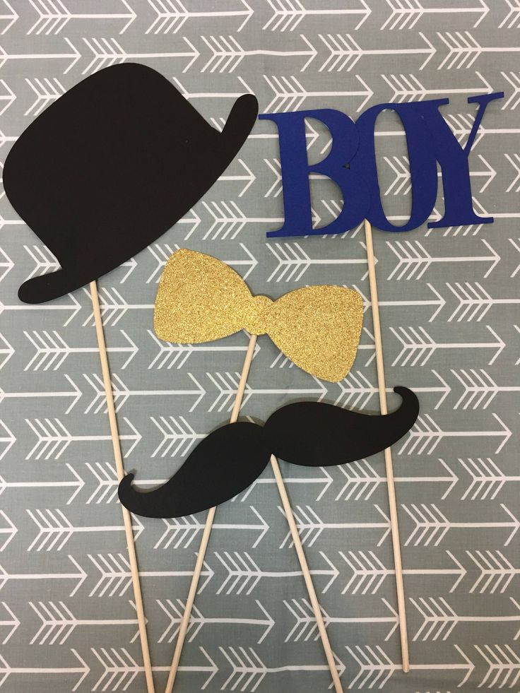 Check out these fun photo props for a baby boy shower in Aubrey Kate Designs on Etsy!