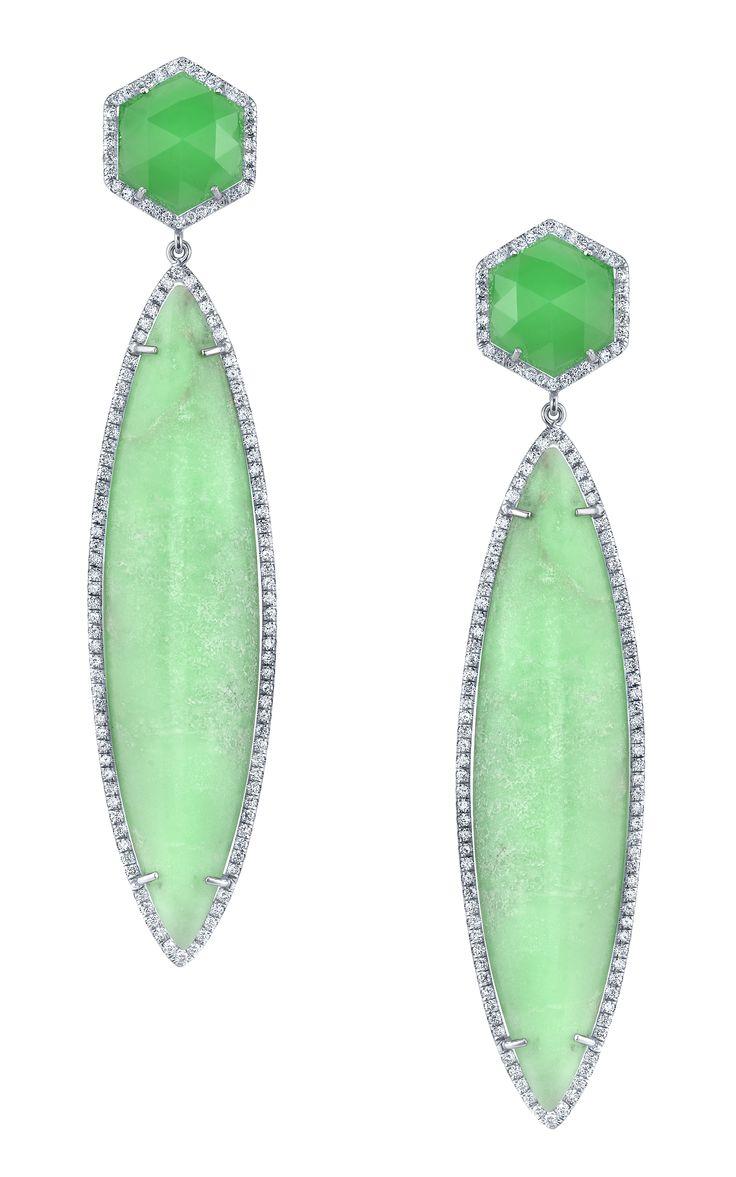 Irene Neuwirth Mint Drop Earrings via @Moda Operandi.: Neuwirth S Drop, Drop Earrings, Ireneneuwirth, Irene Neuwirth S, Neuwirth Mint, Drop Dead Gorgeous, As Gorgeous