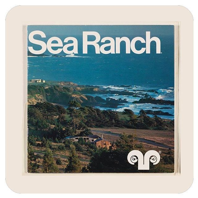 Branding and brochure cover for the incredible California modernist community, Sea Ranch. Barbara Stauffacher Solomon, ca.1965