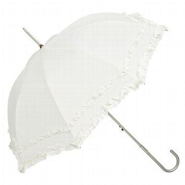 """Brautschirm """"Thalia"""" - weißer Hochzeitsschirm für die Braut - weddix.de"""