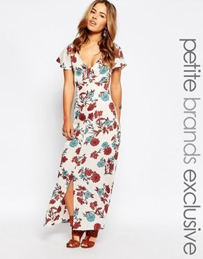 Glamorous Petite Cutout Maxi Dress In Floral Print
