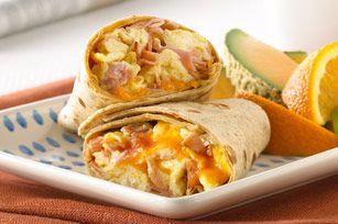 Ham and Egg Wraps recipe