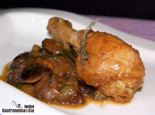 Pollo guisado con setas | Gastronomía
