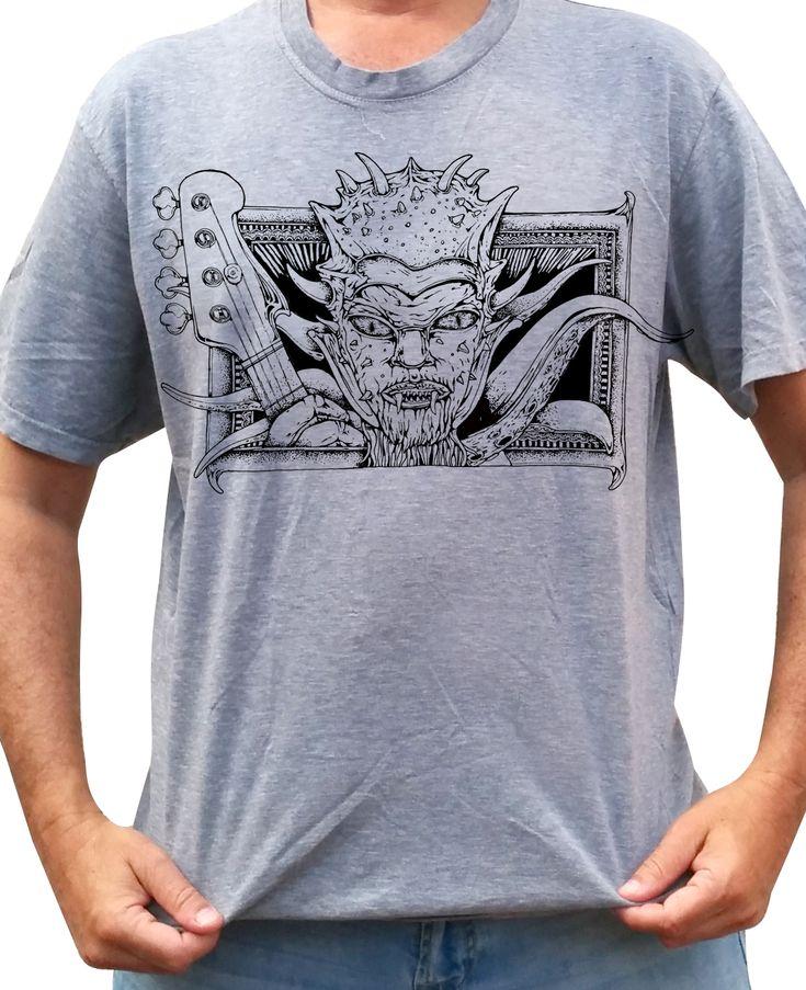 METAL - Bass Monster - Grey Shirt