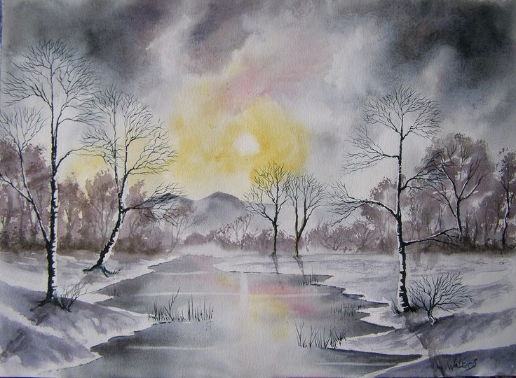 Frosty Morning 297 x 420 mm Watercolour