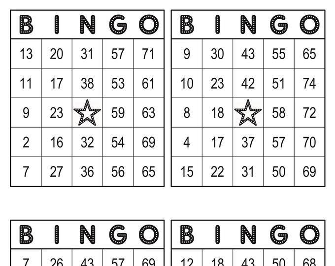 Bingo Cards 1008 Cards 9 Per Page No Free Space Pdf Etsy Bingo Cards Custom Bingo Cards Bingo