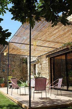 Maison Ballon contemporain-terrasse-en-bois-et-balcon