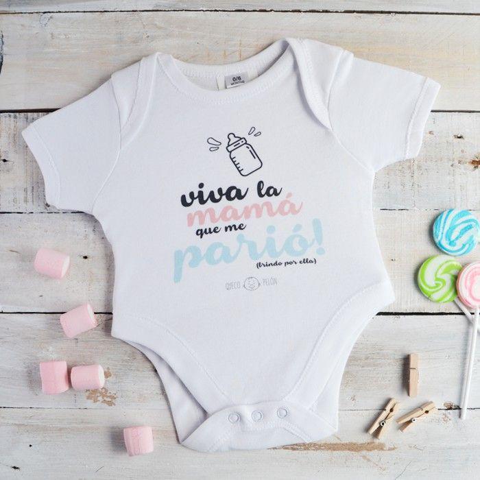 Body Viva la Mamá que me parió #quecopelón #regalo #mundopelón #diseño #niños #bebés #body