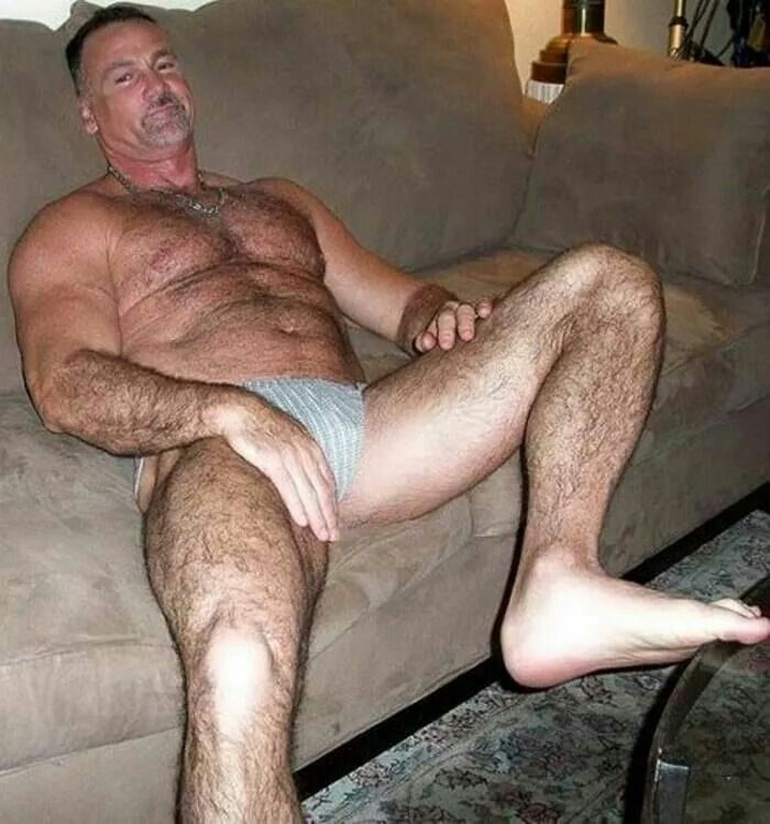 show me old dirty hairy men naked