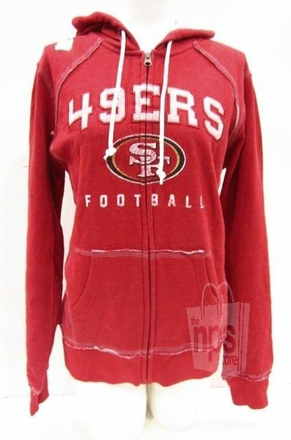 NFL Team Apparel Women's Red San Francisco 49ers Hoodie MEDIUM New