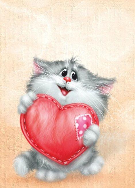 Открытки, открытки любимой котики