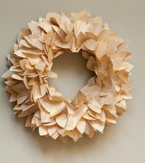 Paper Leaves Wreath $20.00