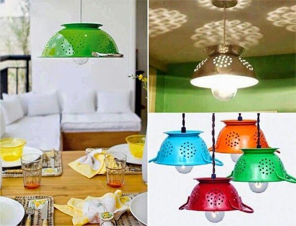 lamparas para cocina recicladas