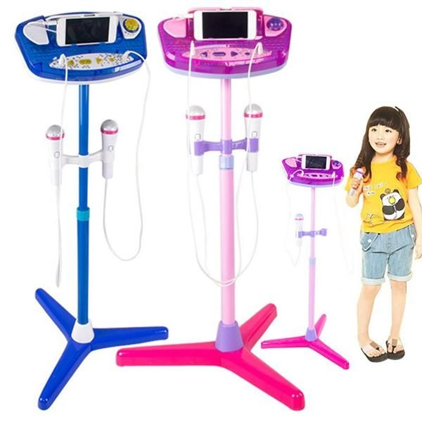 Adjustable Stand With 2 Microphones Karaoke Music Toys for Kids Sale - Banggood.com