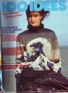 """Grâce à Esther (Dominique et Sylvie aussi ) voici le pull """" vague """" que j'appelle le pull tsunami ...une pépite ! Un chef d""""oeuvre intemporel à tricoter au calme des vacances avant ..... la tempête de la rentrée. Voici donc les pages d'explication du..."""