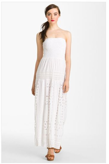 michael kors maxi dress white as seen on http://www.skimbacolifestyle.com TAN SHOES