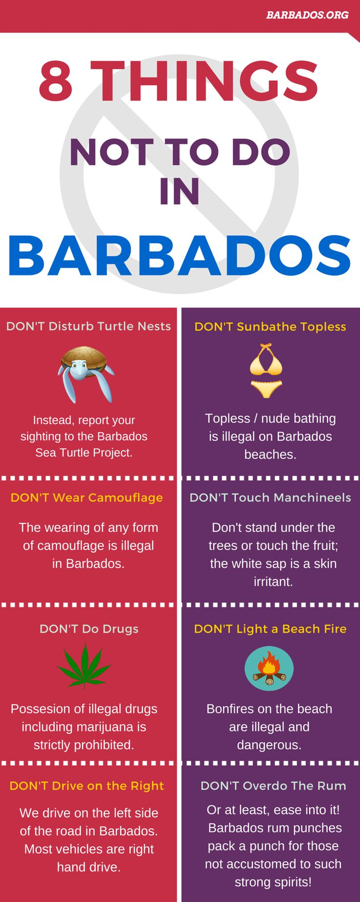 8 things NOT to do In #Barbados | cruiserunners.com