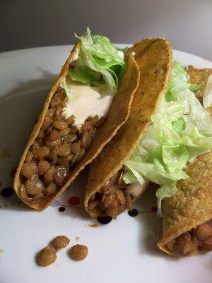 Spiced Lentil Tacos (Vegan).. Made me think of @Christy Polek Cusimano ...