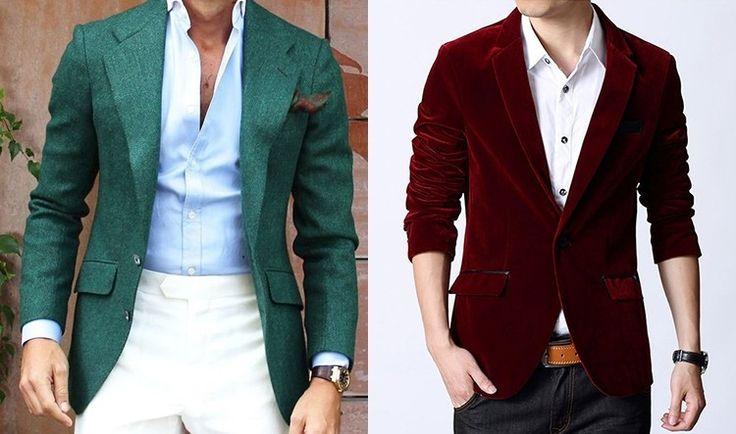 Цветной пиджак - оптимальный вариант для свадьбы в стиле фьюжн