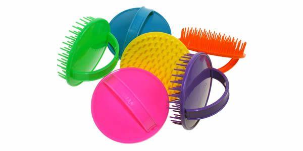Denman Be-Bop Brights detangling shower / massage brush.