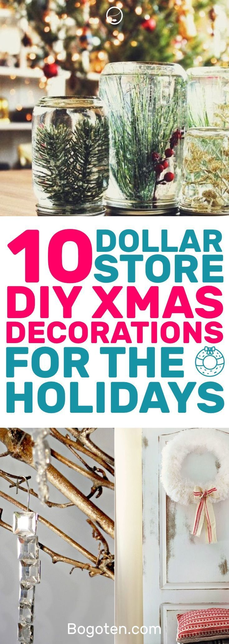 Who doesn't want to decorate their home for the holidays? These DIY Dollar Store home decor ideas will get you festive. I love them! #HomeDecorIdeas #…