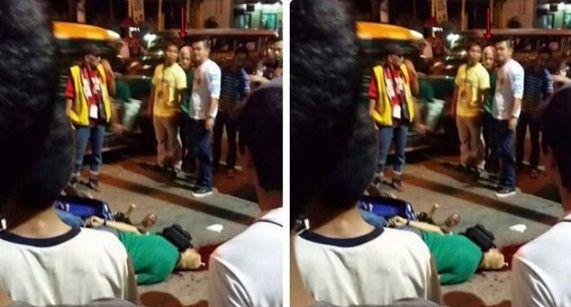 GEMPAR! Zoom 5X dan perhatikan betul-betul...Roh lelaki 15 tahun ini tertangkap kamera ketika berjalan-jalan di sekitar mayatnya sendiri  Sebuah kejadian aneh dan menyeramkan berlaku di jalan-jalan bandar QuezonFilipina apabila seorang lelaki terbunuh selepas ditembak mati ketika tengah memandu motosikalnya.  Dilansir Viral4real  Senin (2/11/2010) selain kematiannya yang mengenaskankejadian lain yang menjadi perhatian iaitu munculnya sosok lelaki yang samadengan mangsa penembakan yang…