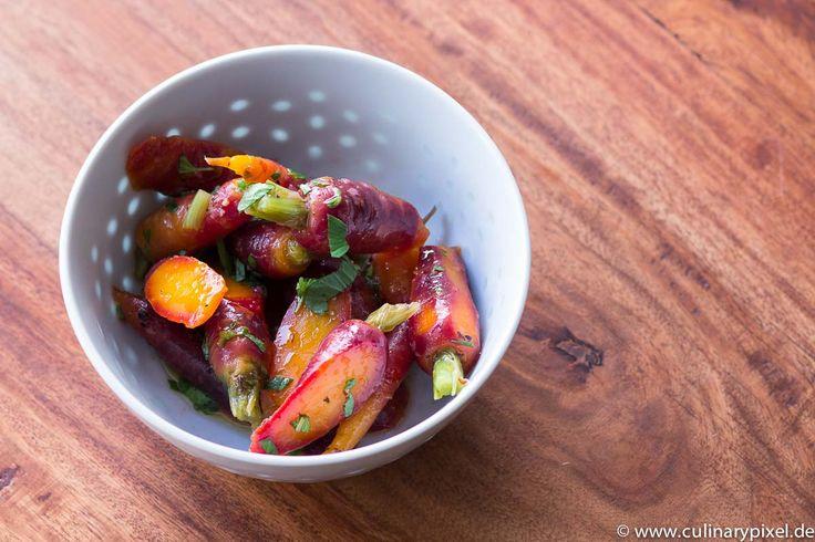 Lauwarmer Karottensalat – Insalata di carote – nach Italien vegetarisch #iveg